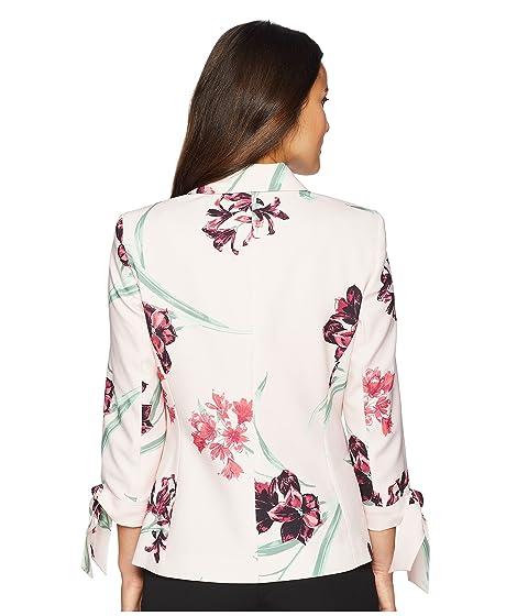 Nine Button Notch West Floral Collar Jacket Printed One AqFAwf