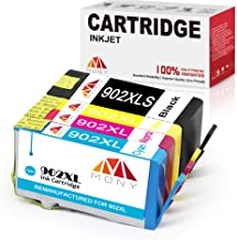 Mony Remanufactured HP 902XL 902 XL Ink Cartridges with New Updated Chip (1 Black, 1 Cyan, 1 Magenta, 1 Yellow) Replacement for HP Officejet Pro 6958 6978 6968 6962 6975 6954 6951 Printers