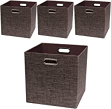 Posprica Storage Basket Bins,13×13 Foldable Storage Boxes Containers for Closet Organizer Shelf Cabinet Bookcase,Thick Fab...