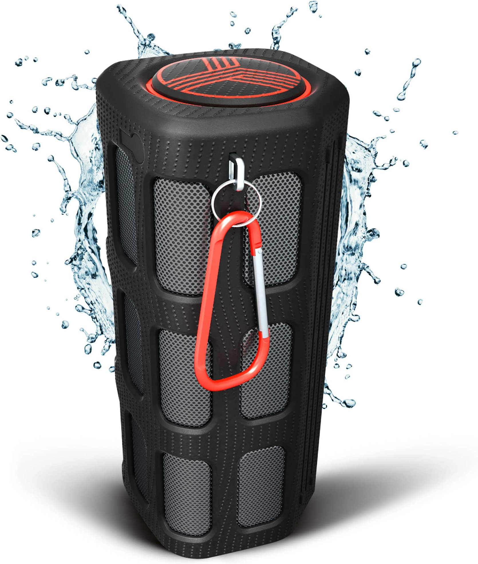TREBLAB FX100 Waterproof Rugged Bluetooth Speaker - Shockproof, for Outdoors in All Weather, Loud, Built-in 7000mAh Power Bank, Portable Wireless Speaker for Travel, Golf Cart, Bike