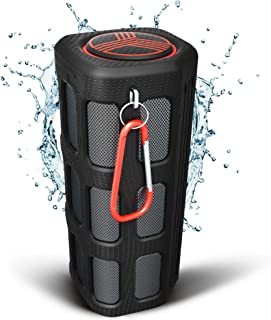TREBLAB FX100 - Extreme Bluetooth Speaker - Loud, Rugged for Outdoors, Shockproof, Waterproof IPX4, Built-In 7000mAh Power Bank, HD Audio w/ Deep Bass, Portable Wireless Blue Tooth Microphone Mic