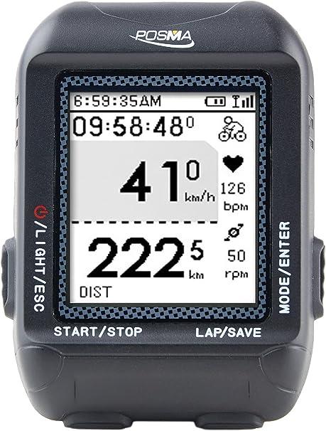 posma/trywin D2 GPS inalámbrico ordenador de bicicleta velocímetro odómetro ciclismo con sistema de navegación, Ant + conexión, apoyo carga de archivo ...