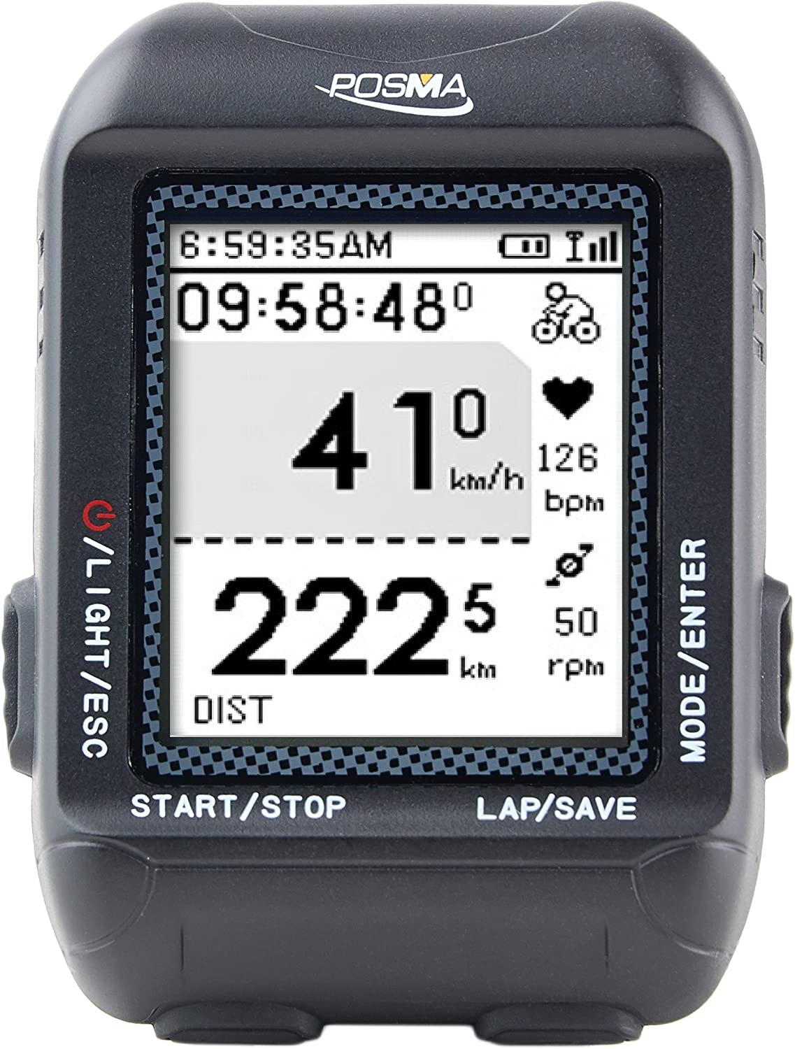 POSMA D2 GPS Wireless Cycling Bike Computer Speedometer Odometer with Navigation, ANT+ connection, support GPX file upload to STRAVA and MapMyRide (BHR20 Heart Rate Monitor and BCB20 Speed Cadence Sensor Bundle Option Available)
