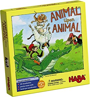 HABA Animal Upon Animal – Classic Wooden Stacking Game Fun for The Whole Family..
