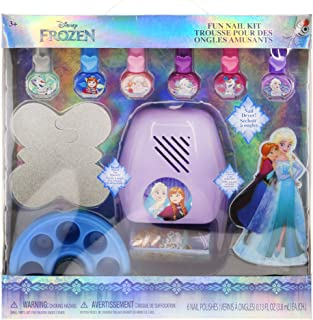 TownleyGirl Disney's Frozen Super Fun Nail Set with 6 Nail Polishes, Nail Dryer and Nail Buffers, 12 CT (Frozen)