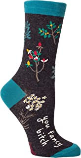 Blue Q Women's Novelty Crew Socks (fit women's shoe size 5-10)