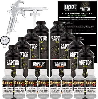 U-Pol Raptor Mesa Gray Urethane Spray-On Truck Bed Liner Kit w/Free Spray Gun, 8 Liters