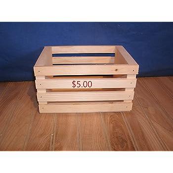 "8"" wooden crate storage crate centerpiece crate crate decor wooden crate wood crate handmade wood crate wedding decor crate"