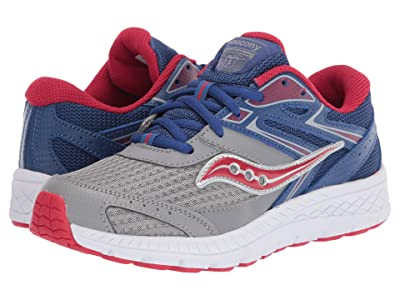 Saucony Kids S-Cohesion 13 LTT (Little Kid/Big Kid) (Blue/Grey/Red Leather/Mesh) Boys Shoes