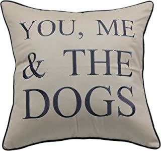 YugTex Pillowcases Embroidered Pet Lover Gift, You me and the dogs throw pillow cover, Home decor, dog lovers gift,Housewarming Gift,Couple Cushion cover (18