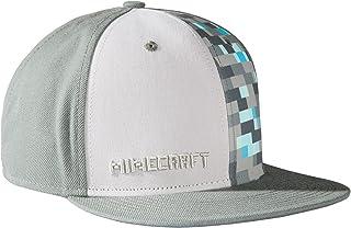 JINX Minecraft Diamond Crafting Snapback Baseball Hat (Gray 49d75e6c07c6