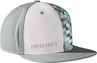 JINX Minecraft Diamond Crafting Snapback Baseball Hat (Gray, One Size)