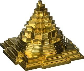 Ramraj Brass Meru Shree Yantra (5cm X 5cm X 4.5cm, Copper Colour)