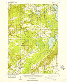 YellowMaps Thompsonville MI topo map, 1:62500 Scale, 15 X 15 Minute, Historical, 1956, Updated 1958, 20.7 x 16.9 in