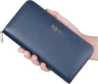 Long Bifold Wallet for Men Leather Luxury Card Holder Zipper Card wallet Purse Clutch iPhone X Pocket