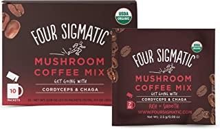 FOUR SIGMATIC Mushroom Coffee Mix with Cordyceps (10 packets), 2.5 g