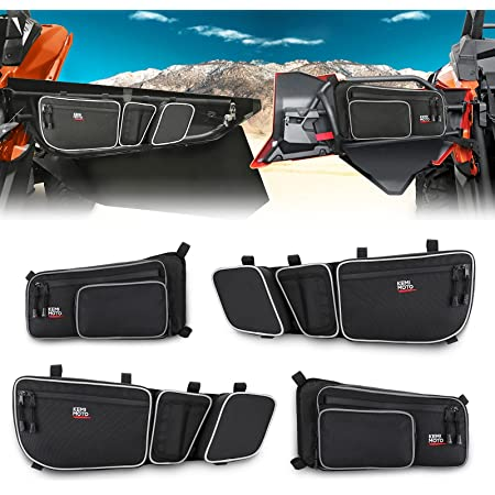 Kemimoto X3 Front and Rear Door Bags compatible with 2017 2018 2019 2020 2021 Can Am Maverick X3 Max/X RS/DS/MR T/urbo RR All Models with Removable Knee Pad and Cup Holder