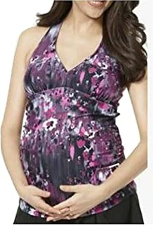 ecc1a0de710 Belly-Jean Liz Lange Purple Haze Maternity Tankini Top