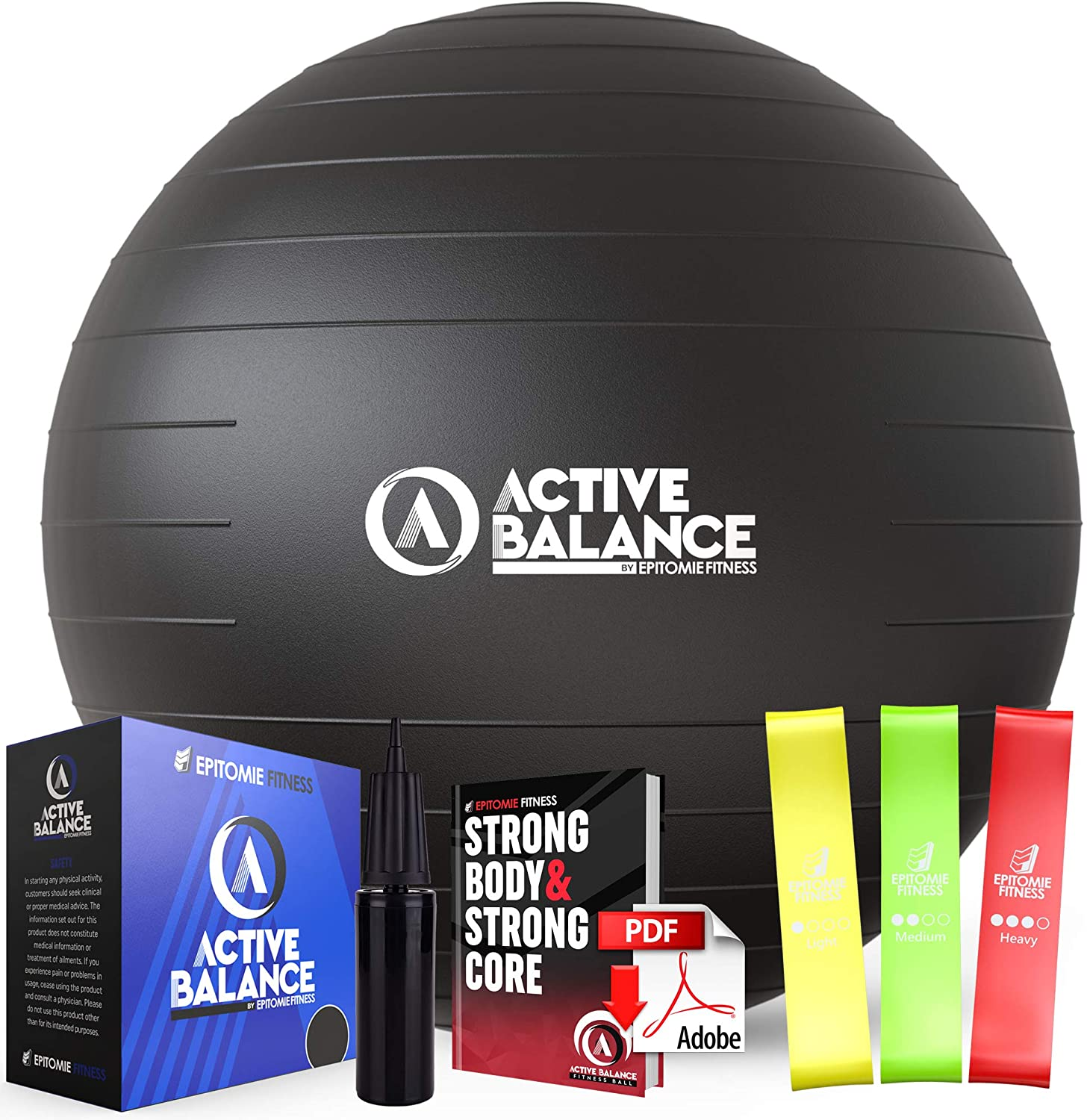 Active Balance Exercise Ball with Pump Hand All items free shipping Bands List price à Resistance