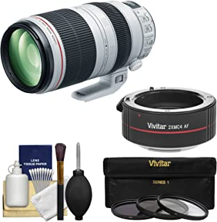 Canon EF 100-400mm f/4.5-5.6 L is II USM Telephoto Zoom Lens with 2X Teleconverter + 3 UV/CPL/ND8 Filters + Kit for EOS & Rebel DSLR Cameras