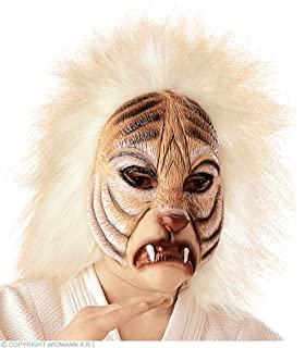 Tiger Mask With Plush Hair Tiger Masks Eyemasks & Disguises for Masquerade Fancy Dress Costume Accessory