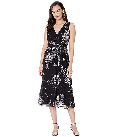LAUREN Ralph Lauren Olena Dress (Black/Purple/Multi) Women