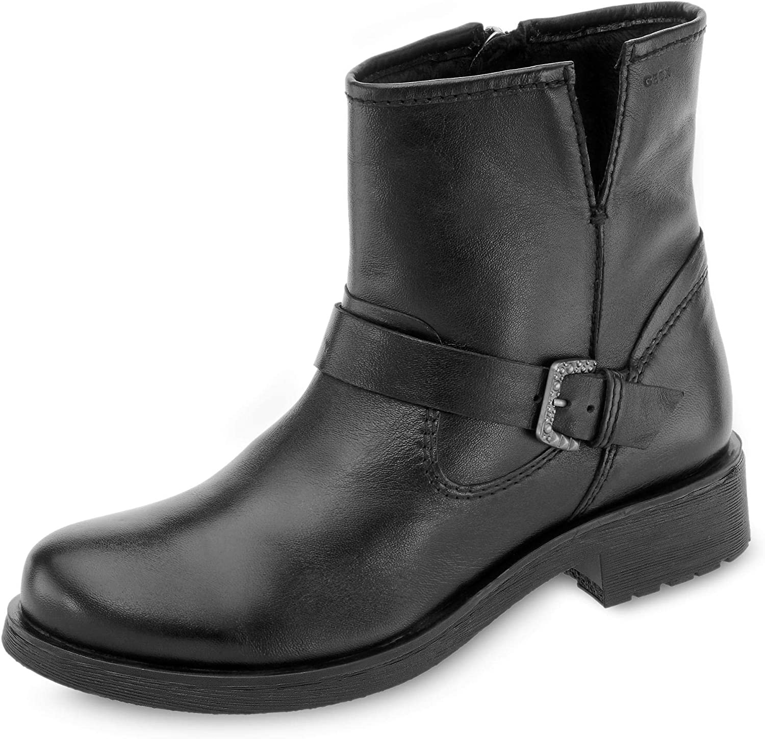 boicotear Pegajoso Rugido  Geox Women's Rawelle Leather Pull-On Boot with Buckle Ankle: Amazon.ca:  Shoes & Handbags