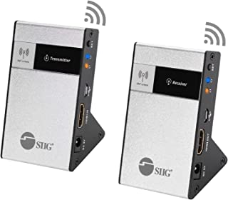 SIIG 4K Wireless HDMI Extender Kit 98Ft 30M Supporting 4K @30Hz HDCP 1.4 CEC 60GHz Frequency Near Zero Latency Gaming More...
