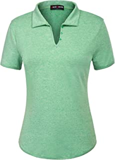 JACK SMITH Women's Short Sleeve Sports Moisture-Wicking Polo Shirt T-Shirt Tops