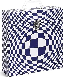 "TUNES-TOTE 'Illusion Blue' LP Vinyl Record Storage CASE, 12"" - Albums - 33-1/3 Record Carry Box"