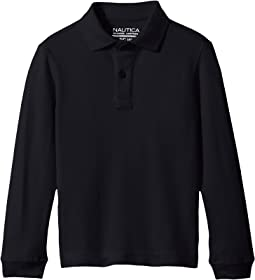 Long Sleeve Pique Polo (Little Kids)