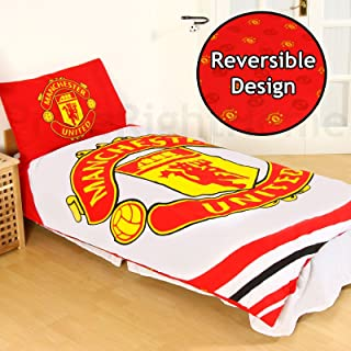 Official Manchester United 'Pulse' Reversible Single Duvet Quilt Cover Set