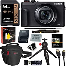Canon Powershot G5X Mark II Digital Camera (3070C001) with Lexar 64GB, Tabletop Tripod, Camera...