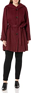 Steve Madden Women's Plus-Size Single Breasted Wool Coat