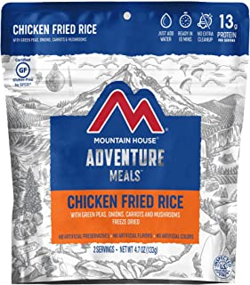 Mountain House Chicken Fried Rice | Freeze Dried Backpacking & Camping Food | Gluten-Free