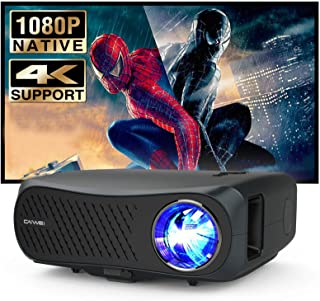 Native 1080P Full HD Projector, 5500 Lumen Full HD LED Video Projector with Fire TV Stick, Smart Phone, Laptop, Computer, ...