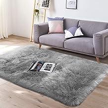 YJ.GWL Super Soft Faux Sheepskin Fur Area Rugs for Bedroom Floor Shaggy Plush Carpet Faux Fur Rug Bedside Rugs, 3 x 6 Feet...