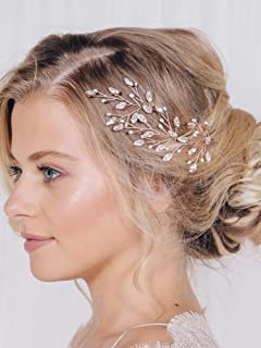 fxmimior Bridal Hair Accessories Pearl Crystal Hair Pins Hair Clips Bobby Pin Wedding Party Evening Headpiece Head Wear (pack of 3) (silver)