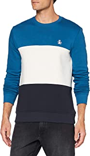 Original Penguin Men's Colourblock Fleece Crew Sweater