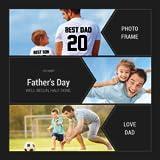 幸せな父の日フォトフレームカード