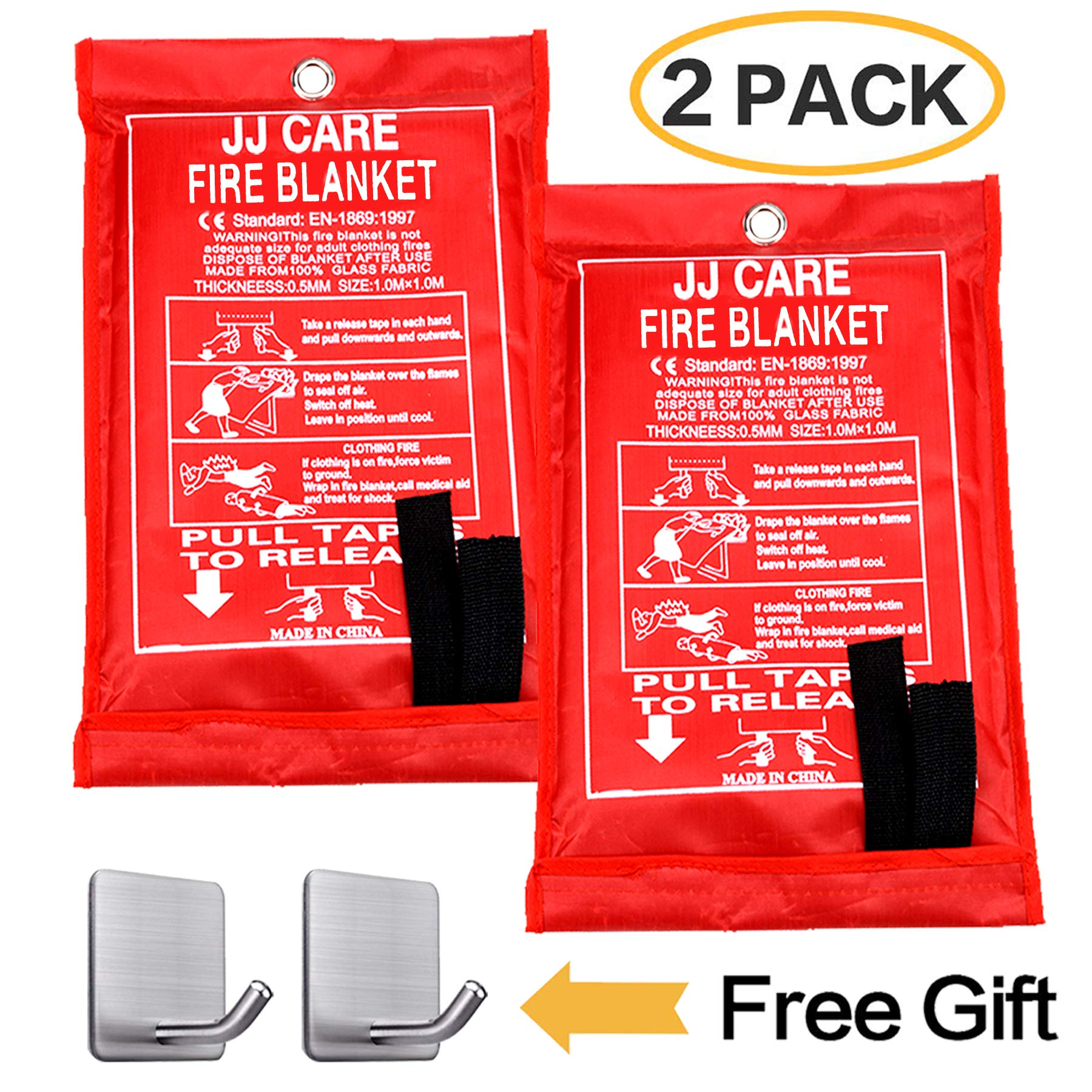 Fire Blanket Emergency Blanket Flame Retardant Blanket Emergency Survival Safety Cover for Kitchen,Fireplace,Car,Office,Warehouse