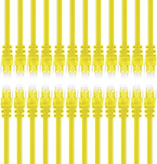 GearIT 24-Pack, Cat 6 Ethernet Cable Cat6 Snagless Patch 6 Feet - Snagless RJ45 Computer LAN Network Cord, Yellow - Compat...