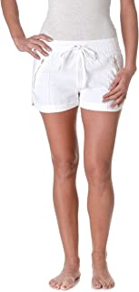 Love Tree Women's Drawstring Linen Shorts with Zipper Accents