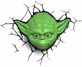 3DLightFX Plastic and Metal Star Wars Yoda Head 3D Deco Light (26.66 cm x 10.16 cm x 17.77 cm)