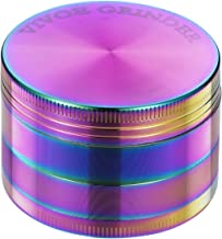 Grinder - 4 Pieces Zinc Alloy Pollen Rainbow Grinders Tobacco Grinder Spice Grinder Herb Grinder Colorful Metal Smoking Crusher with magnetic top (52mm(2inch))