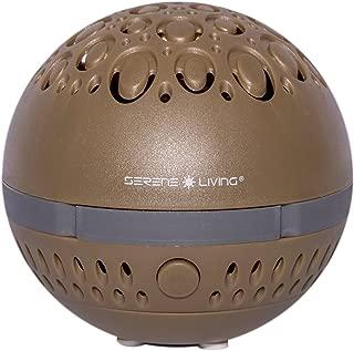Greenair Serene Living Aromasphere Essential Oil Diffuser for Aromatherapy, Khaki, 0.5 Pound