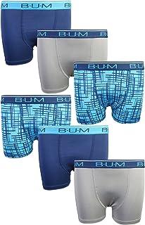 B.U.M. Equipment Boys' Performance Dri-Fit Compression Boxer Briefs (6 Pack)