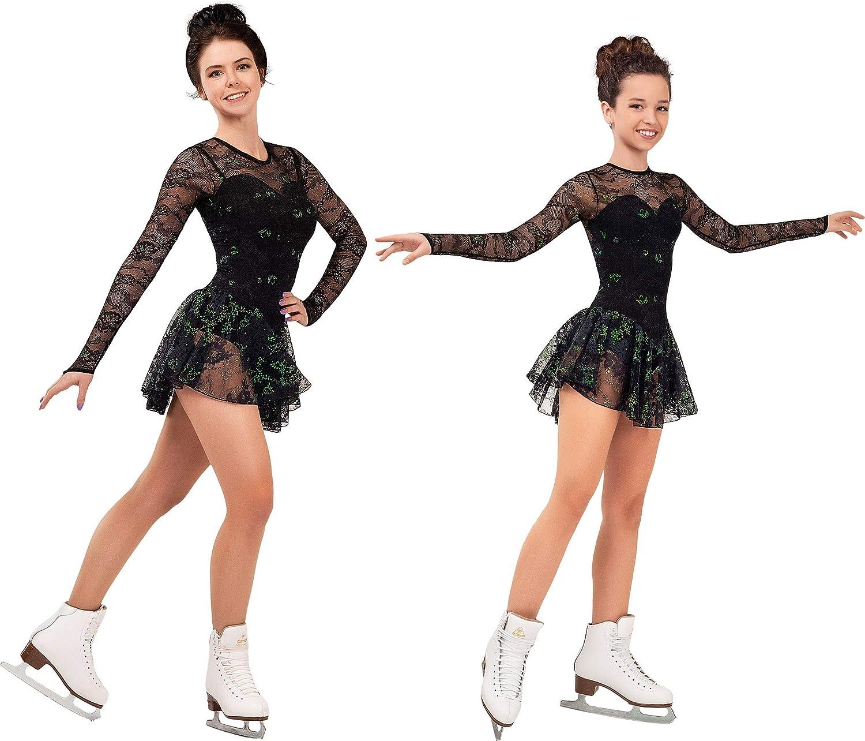 SG.MODA Figure Skating Dress Italian in Made Colorado Shipping included Springs Mall Fabric Europe