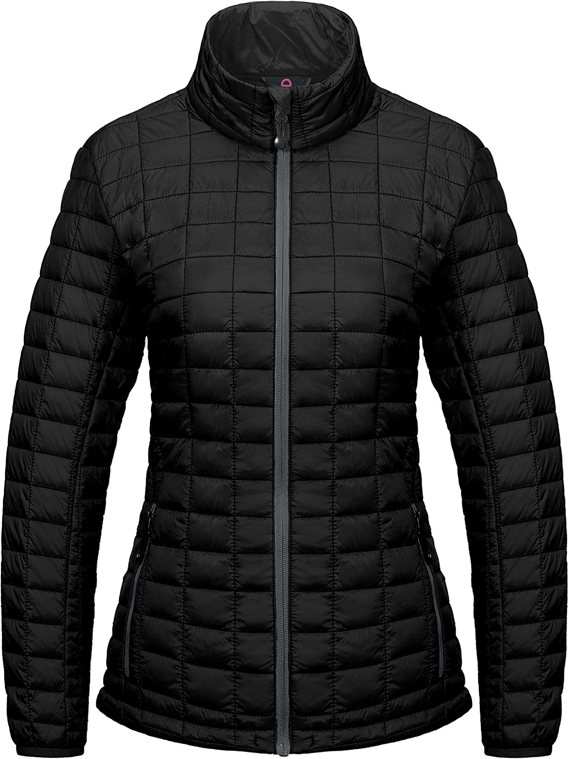 Little Donkey Andy Women's Puffer Jacket, Lightweight Fleece Lined Hiking Jacket with Post-Consumer Synthetic Insulation