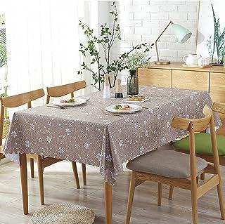 YUANYOU Tovaglia in PVC facile da pulire con motivo a fiori in rattan, rettangolare, in vinile, lavabile, riutilizzabile